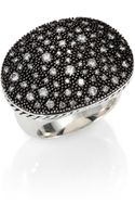 David Yurman Diamond and Sterling Silver Oval Ring - Lyst