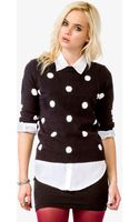 Forever 21 Polka Dot Sweater - Lyst