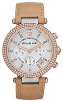 Michael Kors Ladies Parker Twotone Leather Chronograph Watch - Lyst