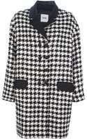 Moschino Cheap & Chic Dogtooth Oversize Coat - Lyst