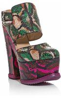 Nicholas Kirkwood For Erdem Printed Watersnake Platform Shoes - Lyst
