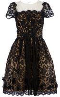 Oscar de la Renta Organza Lace Cocktail Dress - Lyst