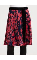 Tory Burch Ruby Pleated Skirt - Lyst