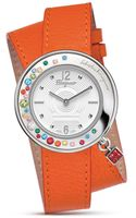 Ferragamo Gancino Sparkling Orange Leather Strap Watch 36mm - Lyst