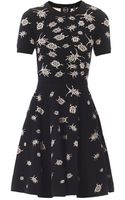 McQ by Alexander McQueen Bug Intarsia Knit Dress - Lyst