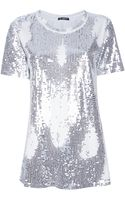 Balmain Sequined T-shirt - Lyst