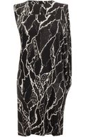 McQ by Alexander McQueen Lightening Lace Asymmetrical Dress - Lyst