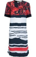Preen By Thorton Bregazzi Mixed Print Shift Dress - Lyst