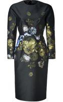 Giambattista Valli Wool Silk Flower Print Dress - Lyst