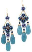 Miguel Ases Blue Quartz Chandelier Earrings - Lyst