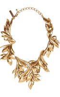 Oscar de la Renta 24karat Goldplated Leaf Necklace - Lyst
