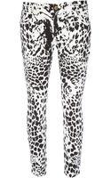 Balmain Leopard Print Skinny Jean - Lyst