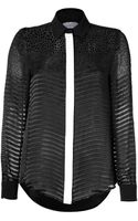 Preen By Thorton Bregazzi Jett Shirt in Black - Lyst