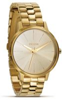 Nixon The Kensington Gold Bracelet Watch 365mm - Lyst