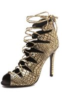 Schutz Slate Lace Up Sandals - Lyst