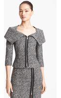 Michael Kors Origami Collar Tweed Jacket - Lyst