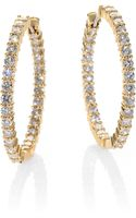 Roberto Coin Diamond 18k Gold Hoop Earrings - Lyst