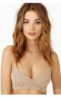 Nasty Gal Camilla Lace Bra Nude - Lyst