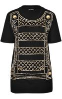 Balmain Cotton Embroidered Top  - Lyst