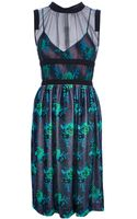 Christopher Kane Floral Velvet Dress - Lyst