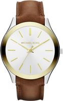 Michael Kors Slim Runway Leather Strap Watch - Lyst