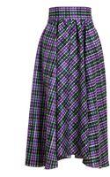 Roksanda Ilincic Checked Silk Skirt - Lyst