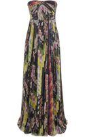 Matthew Williamson Floral Montage Chiffon Corset Gown - Lyst