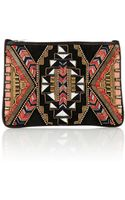 Matthew Williamson Threadwork Leather Clutch Bag - Lyst
