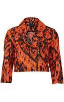 Topshop Petite Aztec Boucle Blazer - Lyst