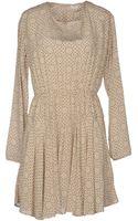 Pomandere Short Dress - Lyst