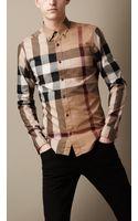 Burberry Buttondown Check Shirt - Lyst