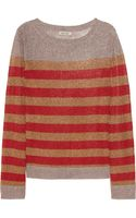 Emma Cook Metallic Flecked Striped Fineknit Sweater - Lyst