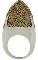 House Of Harlow Pave Dome Slice Ring - Lyst