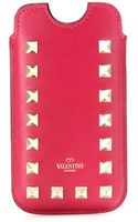 Valentino Leather Rockstud Iphone Case - Lyst