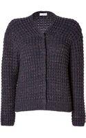 Brunello Cucinelli Cashmere Chunky Knit Cardigan - Lyst