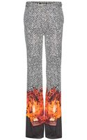 Roberto Cavalli Print Wide-leg Trousers - Lyst