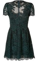 Valentino Lace Overlay Dress - Lyst