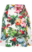 Dolce & Gabbana Floral Print Skirt - Lyst