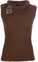 DSquared2 Sleeveless Chunky Knit Sweater - Lyst