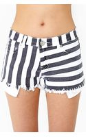 Nasty Gal Sailor Stripe Cutoff Shorts - Lyst