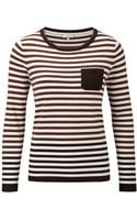 Cc Rose Intarsia Pocket Stripe Jumper - Lyst