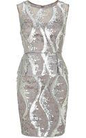 Adrianna Papell Sleeveless Lace Peplum Dress - Lyst