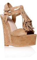 Carvela Kurt Geiger Kola Suede Wedge Sandals - Lyst