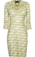 James Lakeland Cowl Neck Dress with Pockets - Lyst
