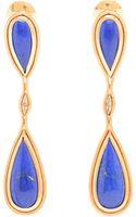 Fernando Jorge 18k Rose Gold and Lapis Lazuli Fluid Drop Earrings - Lyst
