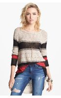 Free People Block Of Stripes Pullover - Lyst