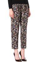 Mulberry Floralprint Cargo Trousers - Lyst