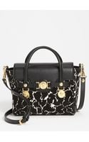 Versace Classic Calf Hair Leather Satchel - Lyst