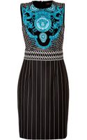 Versace Jersey Dress in Violetturqouiseacid - Lyst