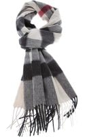 Burberry London Mega Check Scarf - Lyst